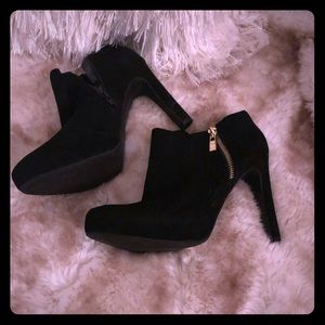 Mark Fisher black suede ankle boots 9.5